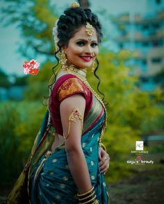 Marathi Saree, Marathi Bride, Marathi Wedding, Girl Photo Poses, Girl Poses, Beautiful Indian Actress, Beautiful Actresses, Blouse Back Neck Designs, Blouse Designs
