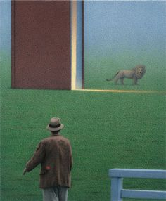 Serene, magical paintings by Quint Buchholz... See more of his work and other Wonderful art at Artblog The White Rabbit: http://www.justfollowthewhiterabbit.com