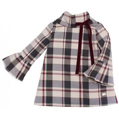 Vestido cuadros Eve Eve Children, Baby Girl Dresses, Plaid, Chic, Jackets, Tops, Fashion, Kids Fashion, Dresses With Sleeves
