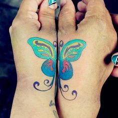 Matching Mother Daughter Butterfly Tattoos 60 mother daughter tattoos ...