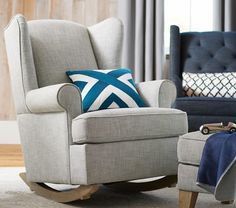 Wingback Convertible Rocker & Ottoman | Pottery Barn Kids  We tried this and it's so comfy!!!