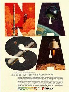 Vintage NASA poster