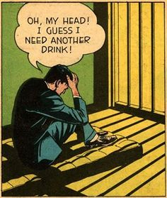 """Comic Boys say.. """"Oh, my head ! I guess I need another drink !"""" #comic #vintage"""