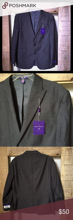 "NWTs! Savile Rowe London Amazing Tailored Jacket NWTs! Savile Rowe of London Amazing Tailored Jacket. Dark Gray suit jacket with Brit Slim Fit Tailoring. The inside lining of this jacket is amazing and shows the detailed work that went into this piece. Lining is purple. Style is Britton, size 42S measures: 19"" across shoulders, 23"" across chest, 25"" sleeves, 29"" long. 80% poly, 20% rayon. MC/101716 Savile Rowe Suits & Blazers Sport Coats & Blazers"