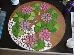 lily pad mosaic template - Google Search