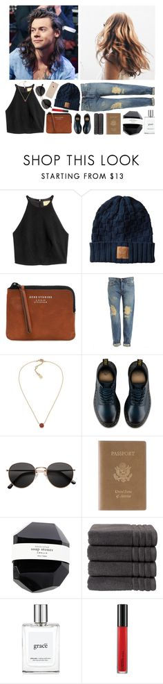 """""""Why? // RTD!"""" by mel2016 ❤ liked on Polyvore featuring Acne Studios, Bardot, Lauren Ralph Lauren, Dr. Martens, H&M, Royce Leather, Christy, philosophy, MAC Cosmetics and polyvoreeditorial"""