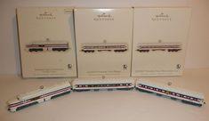 x3 Lot Lionel Freedom Train Sleeper Observation Car Locomotive Engine Ornaments #HallmarkKeepsake