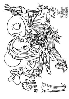 Top 25 Nightmare Before Christmas Coloring Pages For Your Little Ones