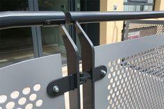 Perforated metal panel railing