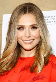 Hair Highlights Color Trends : Elizabeth Olsen beauty look with red eyeshadow Elizabeth Chase Olsen, Elizabeth Olsen Scarlet Witch, Red Eyeshadow, Kate Olsen, Hair Color Highlights, Celebs, Celebrities, Cute Hairstyles, Color Trends