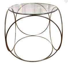 Cicrular shapes melded into a compact cube side table.