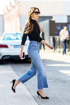 Le Fashion: Street Style: A Sleek Way To Wear Cropped Denim Flares