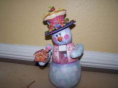 i This is the cutest snowman nutcracker that I have painted inspired by Bobbie Takashima. The snowman nutcracker is painted with Jo Sonja . Cute Snowman, Christmas Snowman, Christmas Crafts, Snowmen, German Christmas Decorations, Snowman Decorations, Cake Cover, Paper Clay, Tole Painting