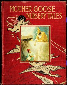 Mother Goose Vintage Book Covers Children S Books Antique Ephemera