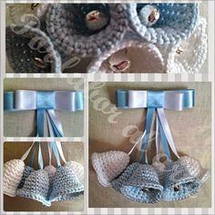 Por labor al arte: Campanitas para bebé ganchillo, crochet.