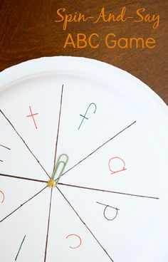 Spin-And-Say ABC Game with a Fall Twist