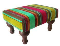 Peseira Veludo Listras Color EXCLUSIVIDADE - Gift Express