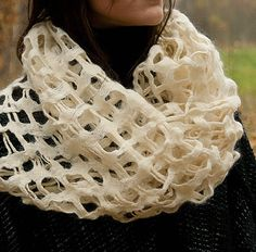 white woven and felted scarf.