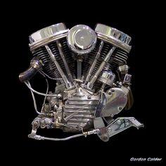Classic/Iconic Harley Davidson Panhead Chopper Motorcycle Engine (photo credit: Gordon Calder)