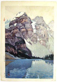 Moraine Lake  Hiroshi Yoshida 1925