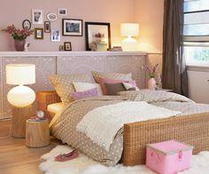 Querido Refúgio, Blog de decoração e organização com loja virtual: Quartos Românticos em rosa, bege e cinza