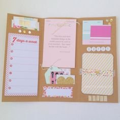 """DIY Letter w/Pockets: Here's an easy tutorial to make your own brochure-style, penpal letter with """"built in"""" pockets."""