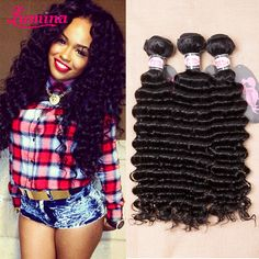 Find More Hair Weaves Information about Mink 8a Grade Virgin Unprocessed Human Hair 3 Bundle Deals Wet And Wavy Deep Wave Brazilian Hair Brazilian Virgin Hair Deep Wave,High Quality hair 3 bundles,China 3 bundle deals Suppliers, Cheap human hair 3 bundles from miss lumina Hair-Products Store on Aliexpress.com Deep Wave Brazilian Hair, Cheap Human Hair, Deep Curly, Virgin Hair, Weave Hairstyles, Sequin Skirt, Hair Weaves, Hair Products, Mink