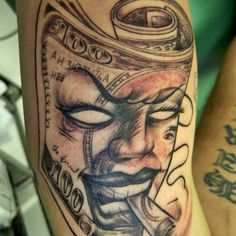 money Tattoos For Men | eat money drink money and smoke money this the motto of the money ...