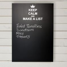 Keep Calm Make A List Chalkboard Memo Board Www Prettymaison Co