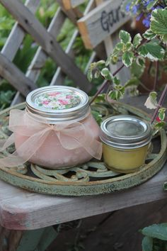 "Make your gardening Mom a ""soapy hand scrub""...only 2 ingredients!"