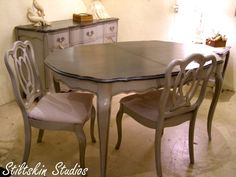 Junk Gypsy Furniture  Junk Gypsy On Pinterest  Shutters Play Adorable French Provincial Dining Room Table 2018