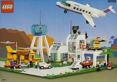 Thousands of complete step-by-step printable older LEGO® instructions for free. Here you can find step by step instructions for most LEGO® sets. Lego City Airport, Lego Boxes, Classic Lego, Lego For Kids, Vintage Lego, Retro Cartoons, Lego Design, Lego Architecture, Kindergarten
