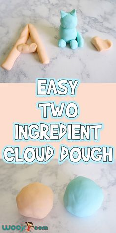 Let's make this Easy 2 Ingredient Cloud Dough today! It's inexpensive to… Let's make this Easy 2 Ingredient Cloud Dough today! It's inexpensive to make, can be colored, and smells so much better than traditional play doughs. Babysitting Activities, Craft Activities For Kids, Preschool Crafts, Craft Ideas, Activities For One Year Olds, Nanny Activities, Classroom Crafts, Tactile Activities, Outside Kid Activities