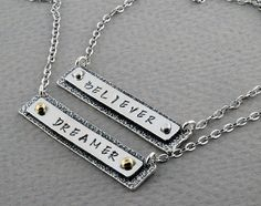 Personalized Necklace - Name Plate Sterling Silver and Gold by Olive Bungalow