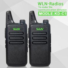 2 unids KD-C1 negro UHF 400-470 MHz Talkie Portátil Transceptor de Radioaficionado Jamón Radio de Dos Vías Walkie Talkie Comunicador de Radio
