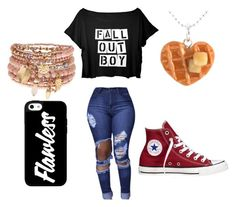 """Flawless"" by samanthabouck ❤ liked on Polyvore featuring beauty, Accessorize and Converse"