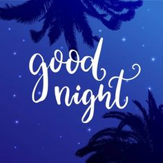 wish before sleep, inspirational quote on blue night sky background with palm Good Night Images Hd, Beautiful Good Night Images, Good Night Gif, Good Night Quotes, Good Night Friends, Good Night Wishes, Videos Tumblr, Before Sleep, Videos Funny