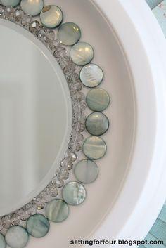 Make a Sunburst Mirror from Setting for Four #diy #tutorial #craft #mirror #sunburst