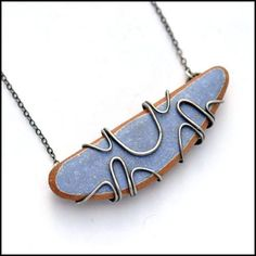 Blue Beach Pottery Necklace , Necklace - Erin Austin, No Roses Jewelry Artisan Jewelry Los Angeles - 1