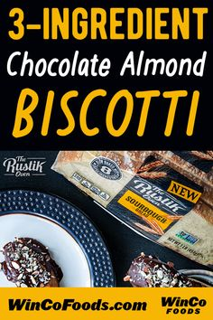 The Rustik Oven has a quick & easy biscotti recipe you're going to love! Easy Biscotti Recipe, Dark Chocolate Chips, Sourdough Bread, Treat Yourself, Almonds, 3 Ingredients, Yummy Treats, Oven, Baking
