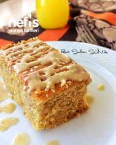 Tahinli Pekmezli Kek – Nefis Yemek Tarifleri – Tahini and Molasses Cake the the Molasses Cake, Delicious Desserts, Yummy Food, Banana Pudding Recipes, Snack Recipes, Snacks, Pudding Cake, Turkish Recipes, Rage