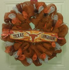 Texas longhorns deco mesh wreath