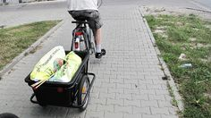 Bike cart with 120 l of dirt