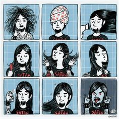 Another morning on a metalhead life