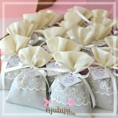 Lavanta keseleri. Lavander bags as wedding favors by tijubiju