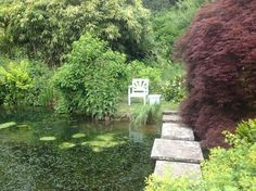Winston Churchill's seat next to his pond, Chartwell, Kent