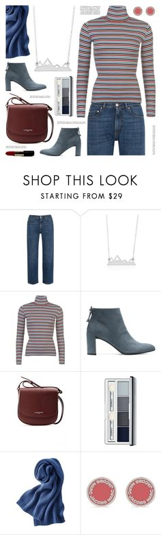 """""""Mountain range necklace"""" by deepwinter ❤ liked on Polyvore featuring AlexaChung, Levi's, Stuart Weitzman, Lancaster, Clinique, Uniqlo, Marc Jacobs and sincerelysilver"""