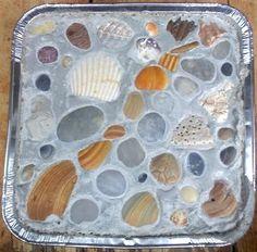 Coastal Decor, Beach, Nautical Decor, DIY Decorating, Crafts, Shopping | Completely Coastal Blog: How to Make Garden Stepping Stones
