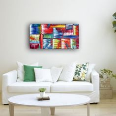 """Don't F#?k With Our Art"" - Free Worldwide Shipping - Original PMS Abstract Oil Painting On Canvas"