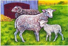 Cute Baby Animals, Farm Animals, Animals And Pets, Farm Pictures, Animal Pictures, Farm Quilt, Sheep And Lamb, Coq, Small Art